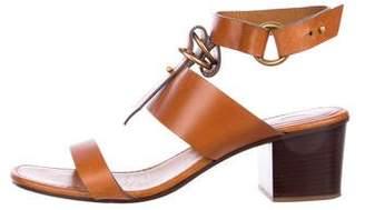 Chloé Leather Block Heel Sandals