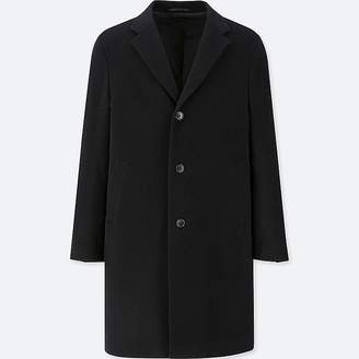 Uniqlo Men's Wool Cashmere Chesterfield Coat