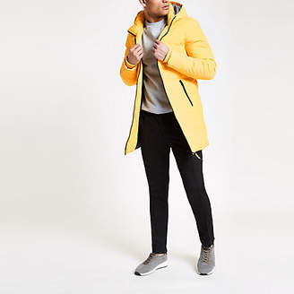River Island Only and Sons yellow longline puffer jacket