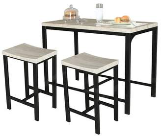 Wrought Studio Biron 3 Piece Dining Set