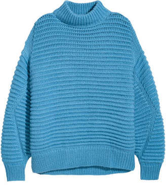 H&M Knit Wool-blend Sweater - Blue