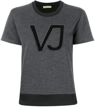 Versace logo applique T-shirt