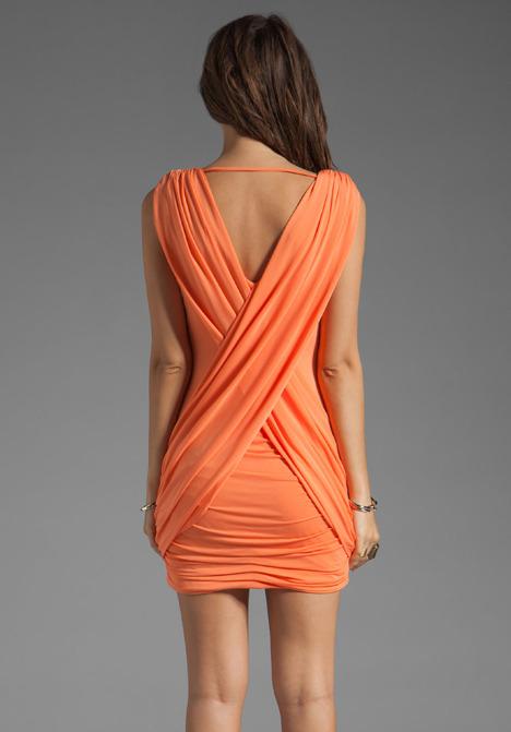 BCBGMAXAZRIA Drape Mini Dress