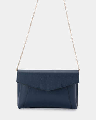Olga Berg Andrea Textured Fold Over Clutch