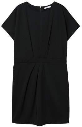 Violeta BY MANGO Pleated waist dress