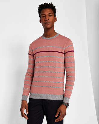 Ted Baker BRITNAY Striped cotton-blend sweater