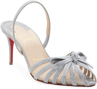 factory authentic c1968 45857 Christian Louboutin Covered Heels Women's Sandals - ShopStyle