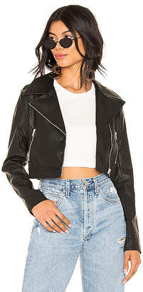 by the way. Kenny Faux Leather Cropped Moto Jacket