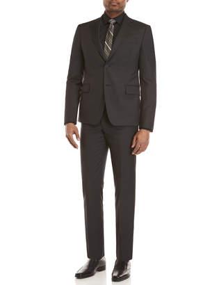 Roberto Cavalli Two-Piece Black Microdot Stripe Suit
