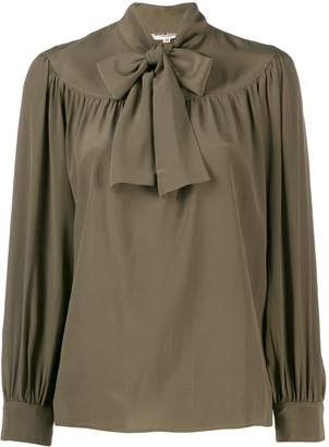 Saint Laurent Pre-Owned 1970's pussy-bow blouse