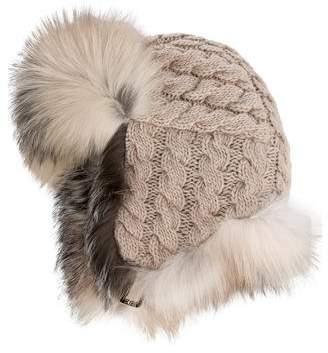 Inverni Fur-Trimmed Cashmere Hat w/ Tags