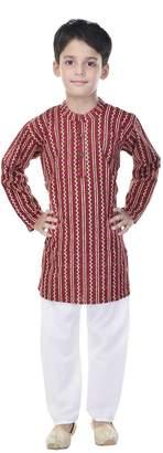 Soundarya Cotton Printed Kurta and Pyjama Set For Boys