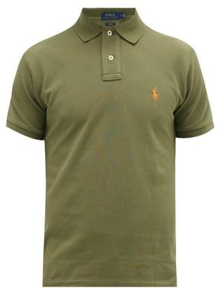 Polo Ralph Lauren Slim Fit Cotton Pique Polo Shirt - Mens - Green