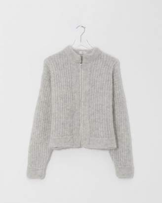 Modern Heritage Ozma Fog Big Zip Up Sweater
