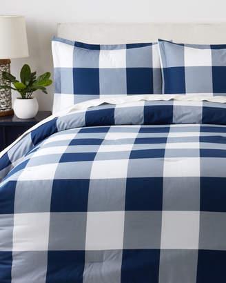Tommy Hilfiger Navy & White Buffalo Plaid Comforter Set