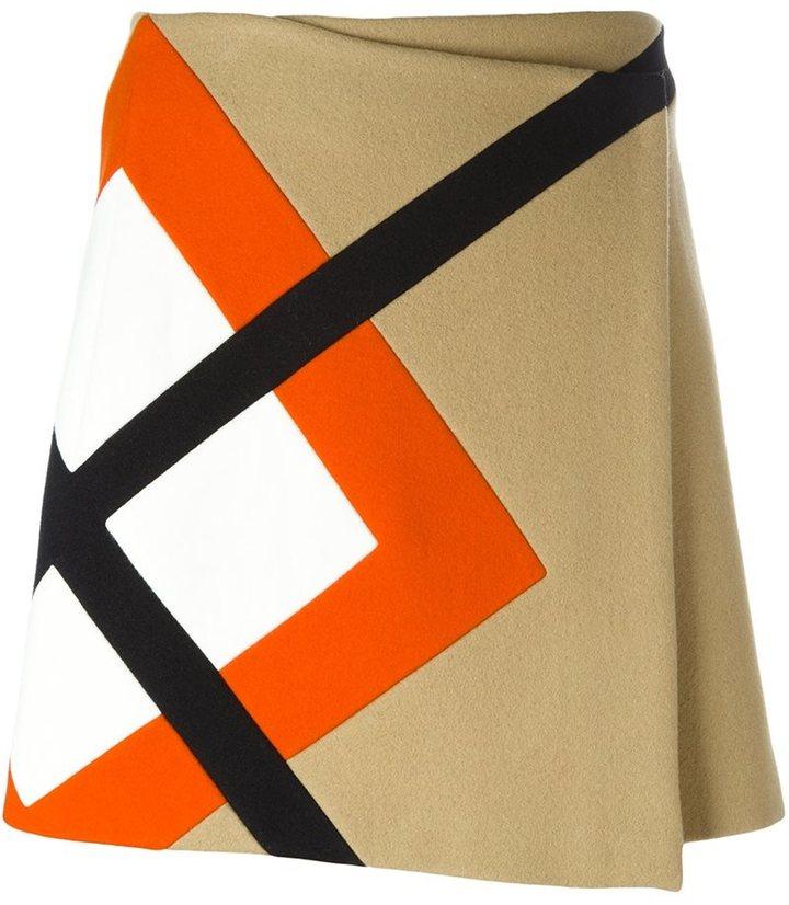 MSGM argyle insert skirt
