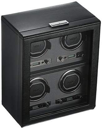 Wolf Designs 456702 Viceroy Collection Module 2.7 Four Watch Winder with Cover