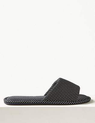 Marks and Spencer All Over Spotted Mule Slippers