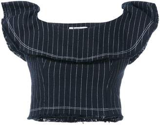 Alexander Wang pinstriped cropped top