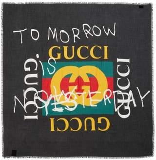 Gucci Coco Capitan Print Scarf