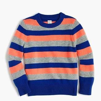 J.Crew Boys' striped crewneck sweater