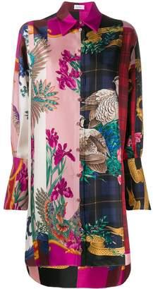 Salvatore Ferragamo patchwork long-line shirt