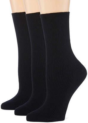 Asstd National Brand Berkshire Non Binding Crew 3 Pair Socks - Extended Sizes