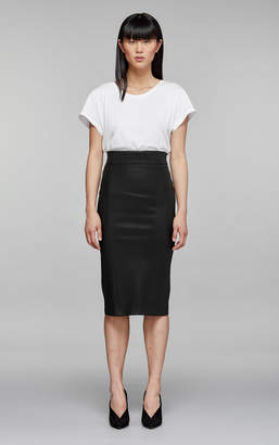 Mackage LUCILLE-L LEATHER PENCIL SKIRT