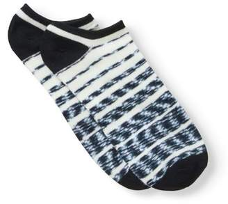 No Boundaries Ladies Super Pug 6-Pack No-Show Sock with 3D Feather Yarn Ears