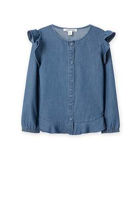 Chambray Ruffle Shirt