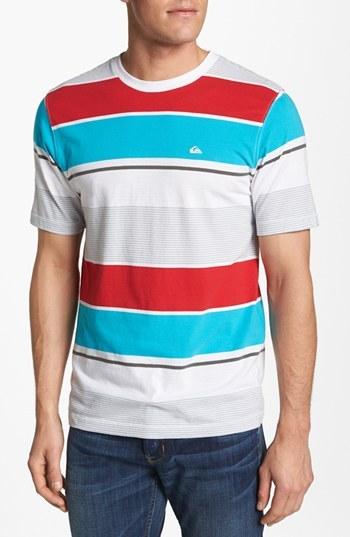 Quiksilver 'Brookhurst' Stripe Crewneck T-Shirt