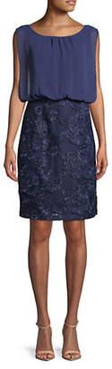 Calvin Klein Blouson Floral Lace Dress