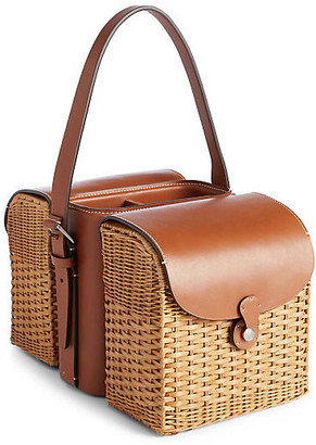 Ralph Lauren Home Bailey Wine & Cheese Tote - Saddle/Wicker