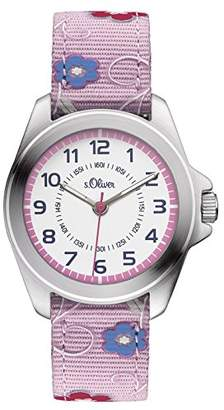 S'Oliver Girls' Analogue Quartz Watch with Fabric Strap – SO-3175-LQ