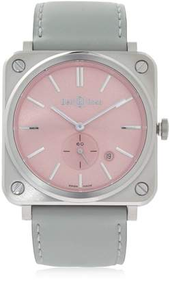 Bell & Ross Brs Quartz Pink Steel Watch
