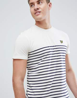 Lyle & Scott breton stripe t-shirt in white/navy