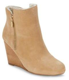 Waverly Faux Fur Suede Wedge Boots $200 thestylecure.com