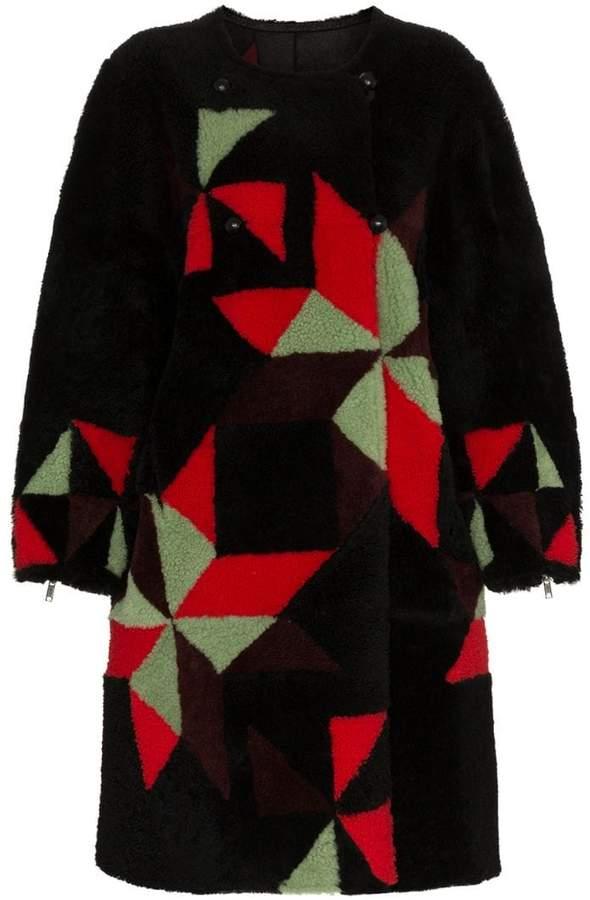 Aban reversible shearling coat