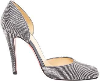 Christian Louboutin Silver Cloth Heels