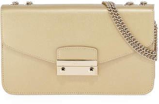 Furla Julia Small Metallic Leather Pochette Shoulder Bag