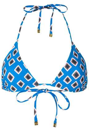 Tory Burch geometric print bikini top