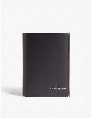 Calvin Klein Logo leather billfold wallet