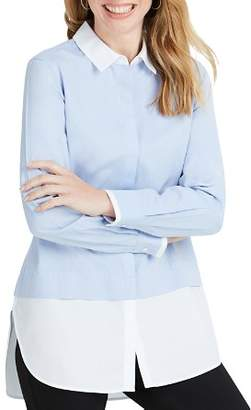 Foxcroft Giselle Color-Block Button-Down Tunic