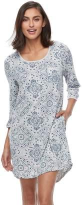 Croft & Barrow Women's Pajamas: 3/4-Sleeve Sleepshirt