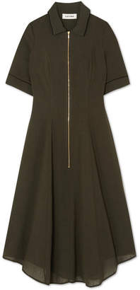 Cefinn - Pleated Voile Dress - Army green