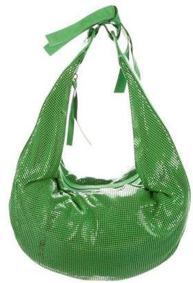 Chloé Leather-Trim Metallic Shoulder Bag
