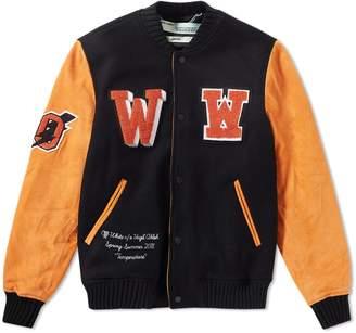 Off-White Off White Eagle Patch Varsity Jacket