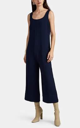 Nomia Women's Crepe Wide-Leg Crop Jumpsuit - Navy