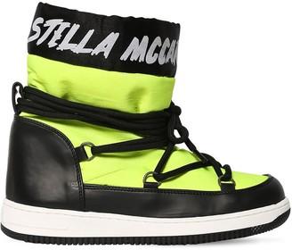 Stella McCartney LOGO PRINT NYLON SKI BOOTS