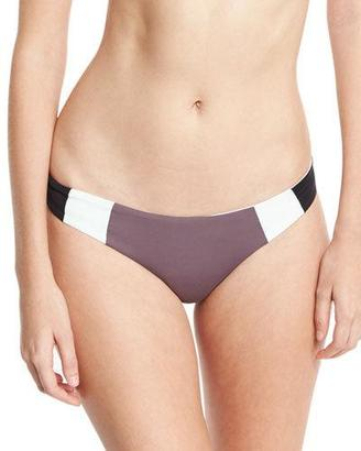 L Space Swimwear by Monica Wise Mia Reversible Colorblock Swim Bottom, Pebble $79 thestylecure.com